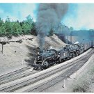 Canadian National Railroad Doublehead Steam Locomotives 2528 6306 Train Postcard Ontario