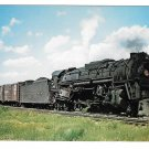 Pennsylvania Railroad PRR Locomotive 6448 J Class 2-10-4 Train Postcard