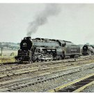 RR Reading Railroad Locomotive 2100 waiting for 2124 Rutherford Yard Train Postcard