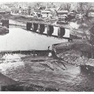 PA Lackawaxen Tow Path Bridge Wayne County Historical Society Postcard