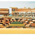 Railroad Wooden Model Train Wabash Cannonball 4-6-4 No 700 Locomotive Postcard