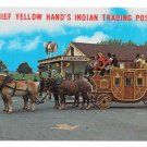 Chief Yellow Hands Indian Trading Post Dutch Haven Stagecoach Soudersburg PA Postcard