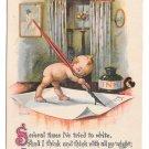 Kewpie Vintage Postcard Writing Letter Quill Pen Ink Gartner & Bender