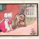 Sunbonnet Girl Bulldog Peek-a-boo Dorothy Dixon 1905 Artist Signed Postcard