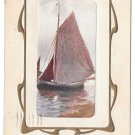 Sailboat To Wish You Joy Davidson Brothers Vintage 1912 Postcard