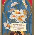 Romance Dearest Love Daisies Vintage Embossed Gilded Poem Postcard Arthur Capper