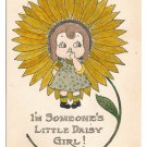 Fantasy Flower Vintage Postcard I'm Someone's Little Daisy Girl