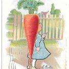 Tuck Fantasy E Curtis Veggie Girl 18 Carrot Vintage Garden Patch Postcard