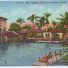 The Venetian Pool Coral Gables Florida FL Curteich 1940 Postcard