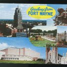 IN Greetings from Fort Wayne Indiana 1962 Multiview Postcard