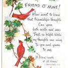 Friendship Poem Postcard Birds Cardinals Christian Art Postcard Friend O Mine