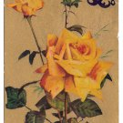 Motto Love Poem Postcard Flowers Yellow Roses Gold Cleve & Pitts RPO RMS Cancel