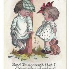 Comic Children Say I'm so tough I Chew Nails and Spit Rust Comical Kids Postcard