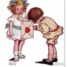Katharine Gassaway My Heart is All For You Children Valentine Vntg 1906 Postcard