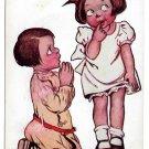 Katharine Gassaway This Is So Sudden Children Vintage 1906 Postcard Valentine