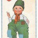 Dutch Kid Boy Luf Greedings Vintage 1913 Samson Bros Valentine Postcard