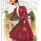Artist Signed Archie Gunn Miss Cleveland Beautiful Stylish Woman Vintage 1906 UDB Postcard
