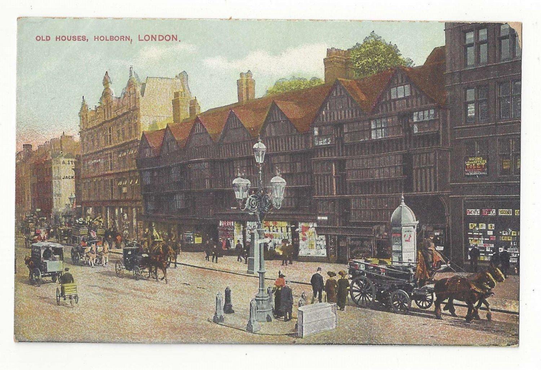 UK England London Holborn Old Houses Vintage Postcard ca 1910