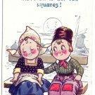 Dutch Boy Girl If it vos your move mine dear Vintage Bamforth Dutch Kids Postcard