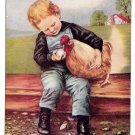 1906 Chicken Boy to Hen Did You Lay Dis Egg Vintage James Lee Co Postcard Unused