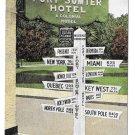 Vintage Kropp Postcard Fort Sumter Hotel Charleston SC World Sign Post