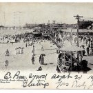 Asbury Park NJ 1904 Beach Boardwalk from the Arcade J Murray Jordan UDB Postcard
