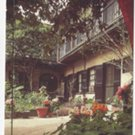 New Orleans LA Courtyard French Quarter 1993 Gilt Lettering Postcard 4X6