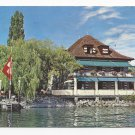 Switzerland Lutry Lausanne Pierre Paris Restaurant Au Vieux Stand 4X6 Postcard