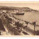 France Nice Cote d'Azur English Promenade Casino 1938 Rella Postcard Mont Boron