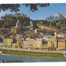 Austria Festspielstadt Salzburg mit Unterberg Festival City 4X6 Postcard 1972