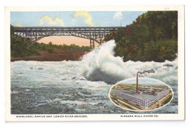 Niagara Wall Papers Co NY Whirlpool Rapids Vintage Curteich Advertising Postcard