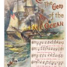 Columbia Gem of the Ocean Music Chas Rose c 1912 Embossed Postcard