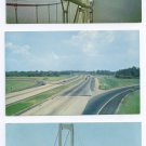 Delaware Memorial Bridge New Jersey Turnpike Lot of 3 Chrome Postcards