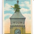 Court House Clock Tower Tree Greensburg IN 1939 Curteich Postcard
