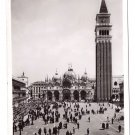 Venice Italy RPPC Piazza San Marco Glossy 1938 Real Photo Postcard