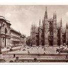 Italy RPPC Milano Piazza Del Duomo Cathedral Real Photo Postcard Milan 1936