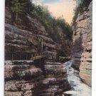 Ausable Chasm N.Y. Jacob's ladder 1914 Vintage Curteich Postcard New York