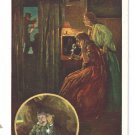 Bell Telephone Guards the Home at Night Safety Advertising Postcard AT&T ca 1910