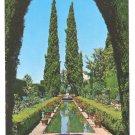 Spain Generalife Gardens Granada Postcard 4X6 Vintage 1971