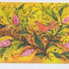 Hallmark Bird and Leaves Design Vintage Art Postcard 1971