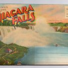 Greetings Niagara Falls Souvenir Folder 20 Views Large Letter Back Vintage Linen