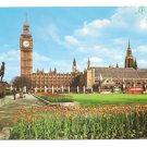 London England Parliament Square Big Ben 1970's  Vintage Frys Postcard 4X6