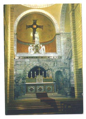 Israel Jerusalem Ecce Homo Basilica Interior Altar Vintage 1960s 4X6 Postcard