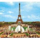 Eiffel Tower Paris France 1977 Gardens Palais Challot Champ de Mars 4X6 Postcard