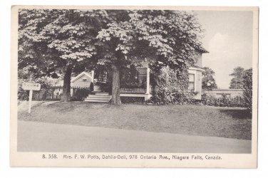 Canada Niagara Falls Lodge Mrs Potts Dahlia Dell Rooms Historic Guest House Ontario Av