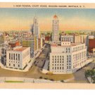 Buffalo NY Federal Court House Niagara Square Metrocraft Linen Postcard