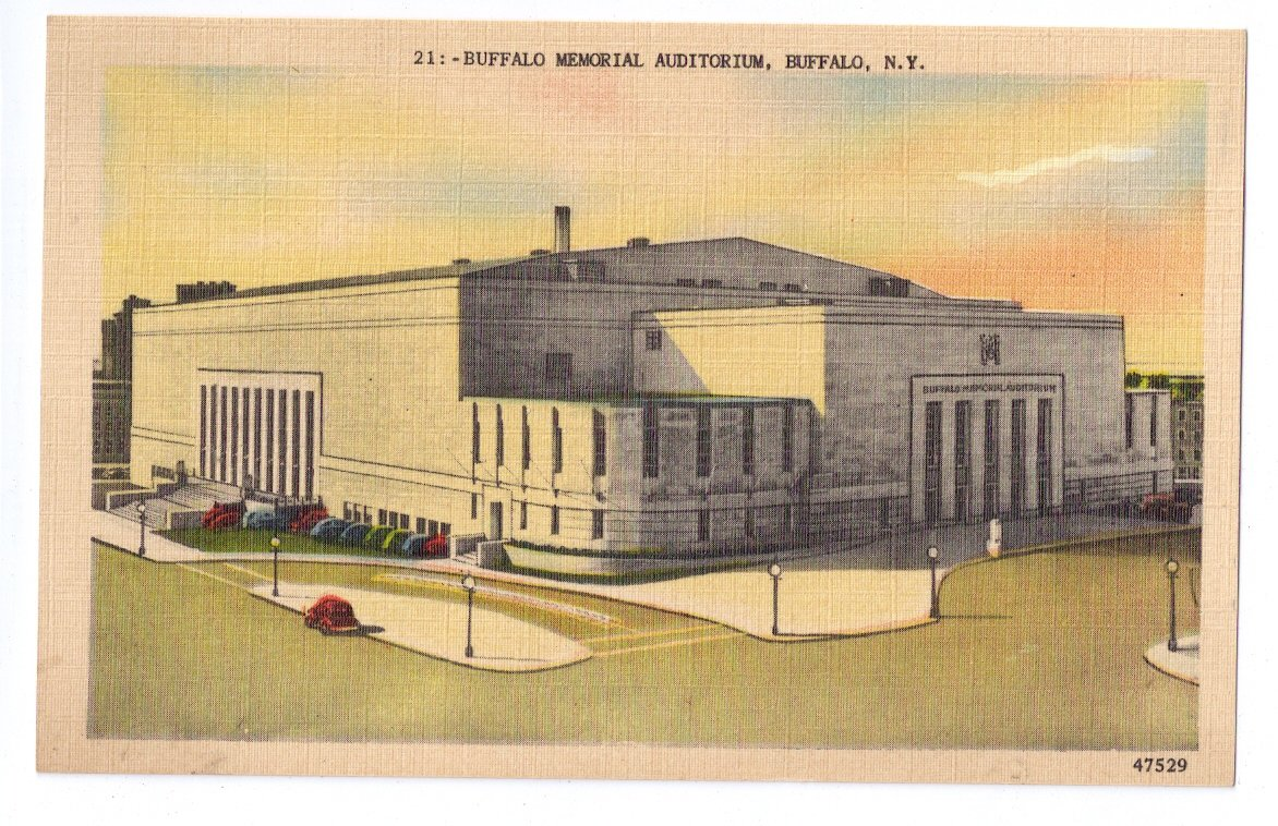 buffalo ny memorial auditorium vintage metrocraft linen