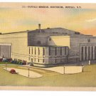 Buffalo NY Memorial Auditorium Vintage Metrocraft Linen Postcard New York