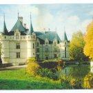 French Castle Les Merveilles Du Val De Loire Azay le Rideau France 4X6 Postcard