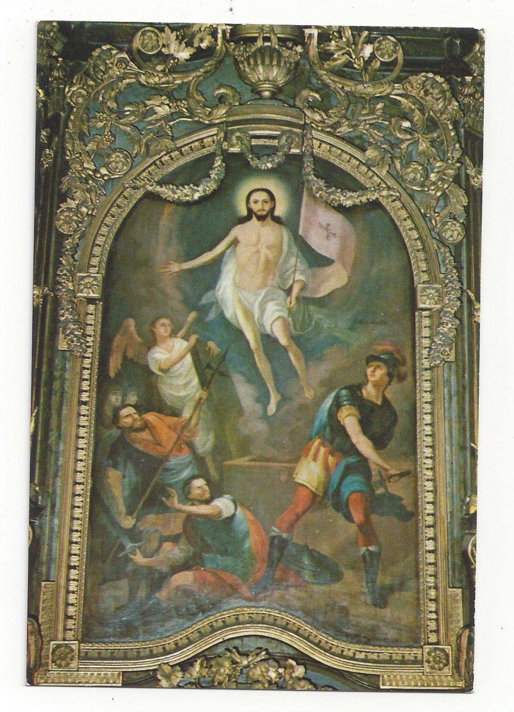 Serbia Jesus Resurrection Arsa Teodorovic Novi Sad Church of Three Hierarchs Vtg Postcard